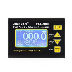 Tll 90s Dual Axis Protractor Lcd Digital Inclinometer Angle Meter Level Box G1g3