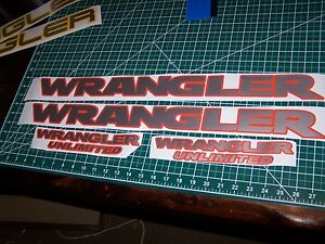 Jeep Wrangler Hood Fender Decal Set Wrangler Unlimited Tj Jk Choose Colors Jku