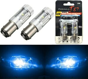 Led Light 30w Ba15d Blue 10000k Two Bulbs Turn Signal Drl Daytime Replace