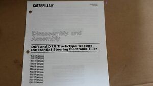 Cat D6r d7r Track type Tractors Differential Steering Electronic Tiller Manual