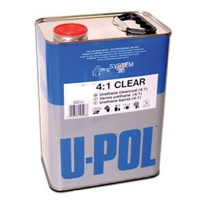 1 Gallon U Pol 4 1 Urethane Clearcoat Up2892 Nanoparticulate High Solids Hs