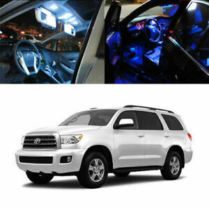 10 X 5050 Smd Full Led Interior Lights Package Deal For 2008 up Toyota Sequoia