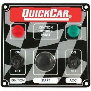 Quickcar Racing Products 50 022 Dash Mount Switch Panel 4 5 8 In X 4 3 8 In