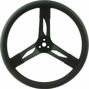 Quickcar Racing Products 68 003 Steering Wheel 3 Spoke 15 Diameter Black Grip