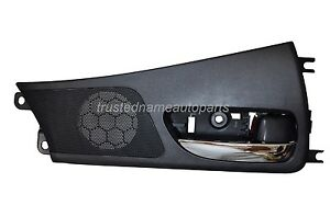 Interior Inner Inside Door Handle Black Housing With Chrome Lever Front Right