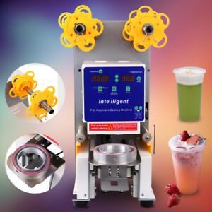 Electric Fully Automatic Cup Sealing Machine Restaurants Fruit Juice 750 Cups hr