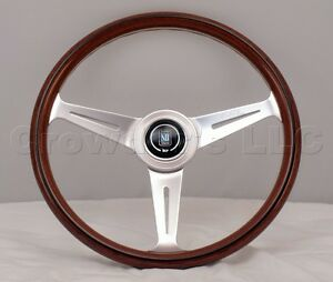 Nardi Steering Wheel Classic Wood Polished 360mm 360 Mm 5061 36 3000 Brand New