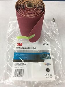 3m 240 Grit 6 Red Psa Stickit Abrasive Sandpaper Disc 100 roll Part 01110 1110