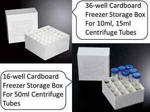 Cardboard Freezer Boxes For 10ml 15ml 50ml Centrifuge Tubes Bottles Storage
