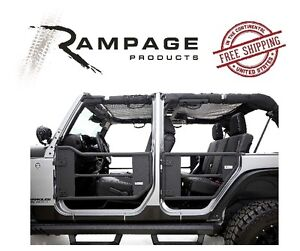 Rampage Trail Doors W Removable Net 07 17 Jeep Wrangler Jku 4 Door 7684 Black