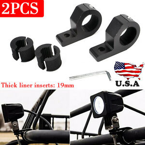 1 Led Bar Inch Off Road Bull Mount Bracket Tube Clamps For Hid Atv