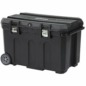 Stanley 50 Gal Portable Rolling Tool Box Truck Bed Job Site Large Storage Chest
