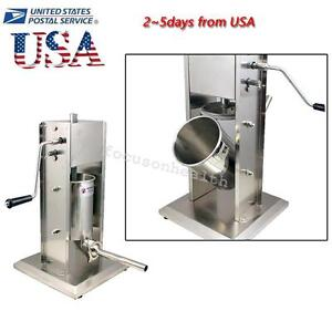 Hot High Capacity Sausage Stuffer Vertical Stainless Steel 5l 11lbs Meat Filler