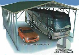 26x41x14 Triple wide Rv Cover Double framing Vertical Roof Free Del instal