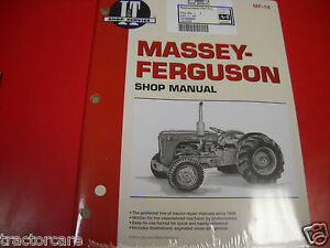 Massey Ferguson Tractor I t Service Shop Repair Manual To35 40 35 50 Mf14