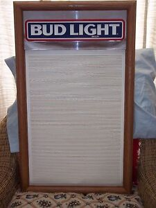 L k Nice 80 s Era Bud Light Menu Board Sign With New Letter Number Sets