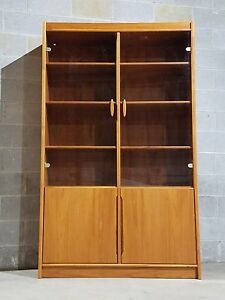 Danish Modern Sculptural Handle Cabinet Shipping Available