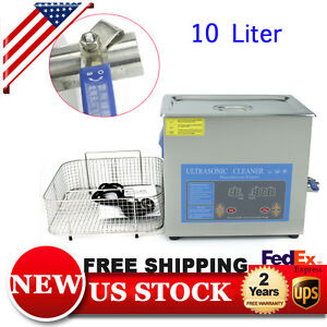 10liter Industry Ultrasonic Cleaner Dental Jewelry Cleaning Machine Heater Timer