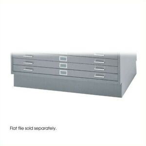 Safco Closed Low Base For 4986 And 4996 Flat File Cabinets In Gray