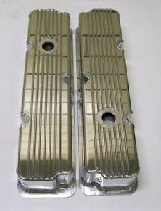 Ford Fe Fabricated Tall Finned Aluminum Valve Covers 1 4 Billet Rail 360 390 428