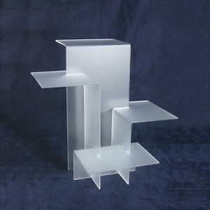 4 tier Riser Showcase Display Trade Show Jewelry Displays Frosted Riser Set