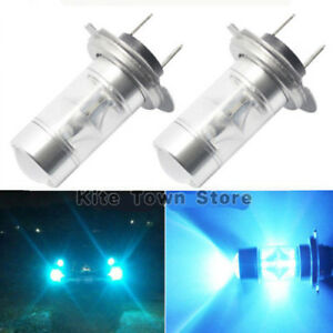 2x H7 100w 2323 Led 8000k Ice Blue Fog Light Daytime Running Bulbs Lamp