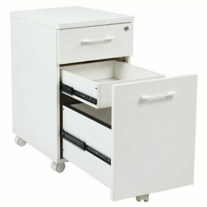 Scranton Co Mobile File Cabinet With Hidden Drawer In White