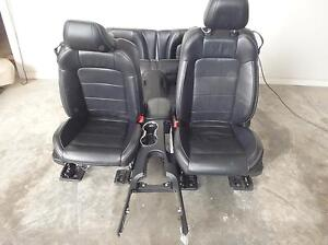 15 16 Ford Mustang Front Bucket And Rear Seats Black Leather Power Heat cool