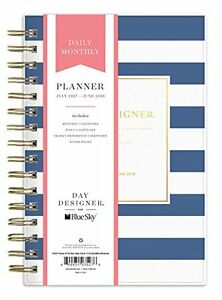 Day Designer For Blue Sky 2017 2018 Academic Year Daily Monthly Planner