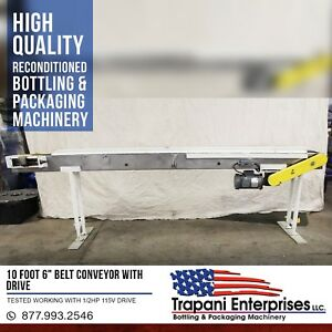 10 Foot 6 Belt Conveyor With Drive Tested Working With 1 2hp 115v Drive