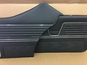 1969 Chevelle Coupe Pui Platinum Door Panels Front And Rear Set In Black