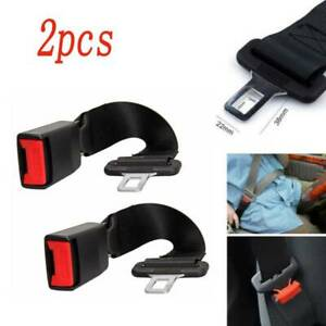 2pcs 14 Car Seat Belt Extention Extender Safety 7 8 Buckle Black