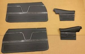 1969 Chevelle Convertible Pui Platinum Door Panels Front And Rear Set In Black