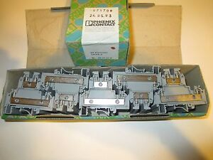 50 Phoenix Contact 2771010 Double Level Terminal Block Ukkb 3 New Old Stock