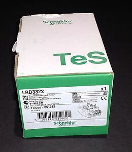 Lrd3322 Schneider Electric Overload Relay New