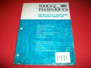 Ford Computerized Engine Controls Electronic Fuel Injection Thru 1986 Otc