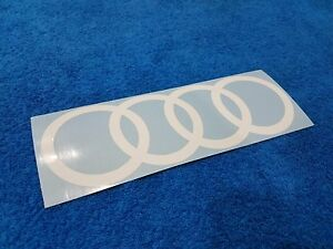 Audi Rings Logo Decal Sticker Quattro Euro Vag Car Window Laptop Stance Nation