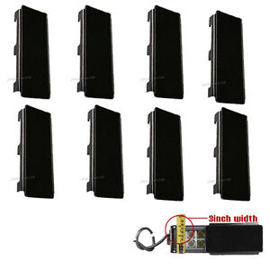 8x 8 Inch Snap On Black Lens Covers For Straight Curved Led Light Bar 50 52 54