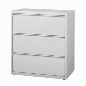 Filing Cabinet File Storage Hirsh Industries 3 Drawer Lateral In Gray