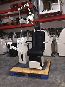 Optometry Optician Chair And Stand Burton Xl3300 Used New Leather