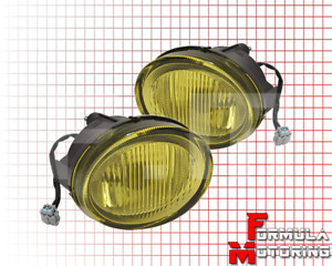 For 2002 2003 Nissan Maxima Direct Replacement Fog Lights Lamps Unit Pair Amber