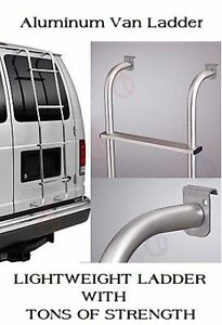 Van Ladder Rear Door Hook Over Rack Mount Step Aluminum Ford Chevy Gmc Dodge