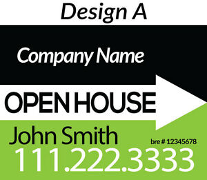 10 Qty 24 x18 Corrugated Plastic open House Sign W Customized Design