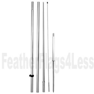 Windless Pole Ground Spike For Swooper Feather 2 5 3 Windless Flag hq