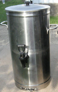 Bunn Tea Beverage Dispenser 3 Gallons Tds 3 Stainless Steel 33000 0000