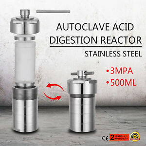 Autoclave Hydrothermal Synthesis Reactor Kettle Vessel 500 Ml 5 Min