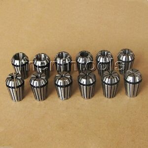 15pcs Er25 Spring Collet Set 2 3 4 5 6 7 8 9 10 11 12 13 14 15 16mm