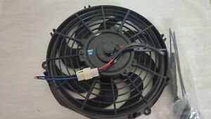 10 Universal Radiator Cooling Fan W Curved Blades Reversible 12v