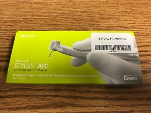 Midwest Stylus Atc 890 High Speed Dental Hand Piece Dentist Handpiece New