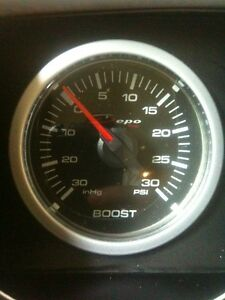 52mm Depo Racing Clear Electric Turbo Boost Gauge Psi White Csm 5201b